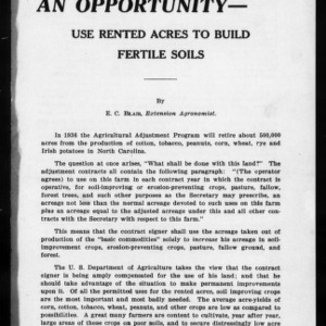 Extension Miscellaneous Pamphlet No. 24: An Opportunity - Use Rented Acres to Build Fertile Soils