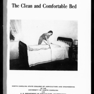 Extension Miscellaneous Pamphlet No. 44: The Clean and Comfortable Bed