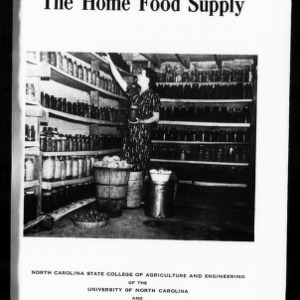 Extension Miscellaneous Pamphlet No. 45: The Home Food Supply