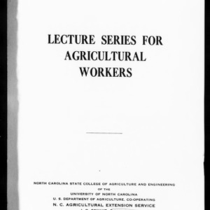 Extension Miscellaneous Pamphlet No. 46: Lecture Series for Agricultural Workers