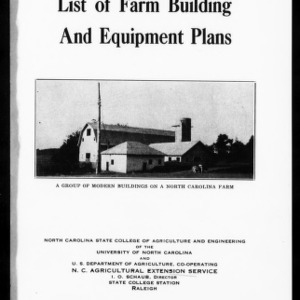 Extension Miscellaneous Pamphlet No. 48: List of Farm Building and Equipment Plans