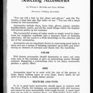 Extension Miscellaneous Pamphlet No. 49: Selecting Accessories