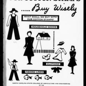 Extension Miscellaneous Pamphlet No. 51: When You Spend Your Cotton Stamps, Buy Wisely