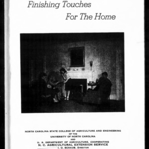 Extension Miscellaneous Pamphlet No. 102: Finishing Touches for the Home