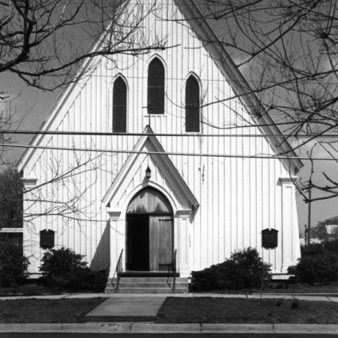 View, St. Paul's Episcopal Church, Beaufort, Carteret County, North Carolina