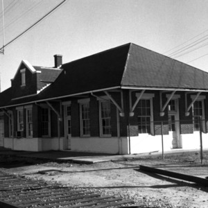 View, Atlantic Coast Line Passenger Station, Enfield, Halifax County, North Carolina