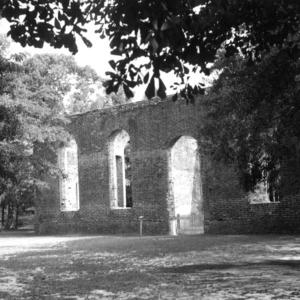 View, St. Philip's Church, Brunswick, Brunswick County, North Carolina