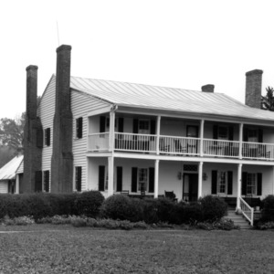 View, Fletcher-Skinner House, Old Neck, Perquimans County, N.C.