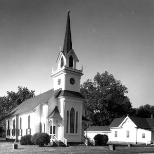 View, Fairfield Methodist Church, Fairfield, Hyde County, North Carolina