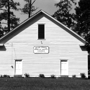 View, Bear Grass Primitive Baptist Church, Bear Grass, Martin County, North Carolina