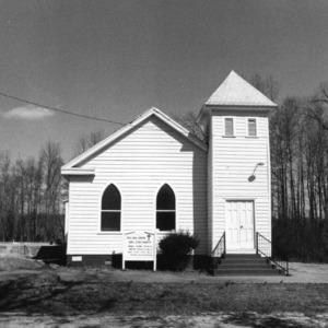 View, Red Oak Grove A. M. E. Church, Gates County, North Carolina