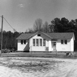View, Reid's Grove School, Gatesville, Gates County, North Carolina