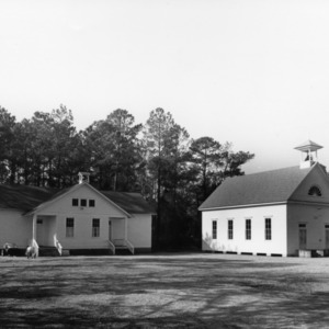 View, Rose Bay at Missionary Baptist Church and School, Hyde County, North Carolina