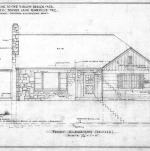 Supplement drawing to Enlow design, Revised Front Elevation