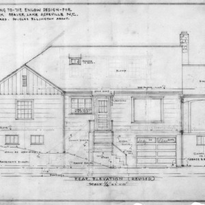 Supplement drawing to Enlow design, Revised Rear Elevation