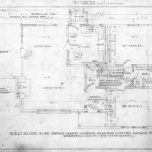Supplement drawing to Enlow design, Revised First Floor Plan