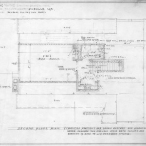 Supplement drawing to Enlow design, Revised Second Floor Plan