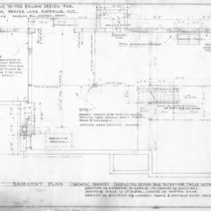 Supplement drawing to Enlow design, Revised Basement Plan