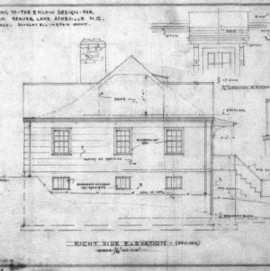 Supplement drawing to Enlow design, Right Side Elevation