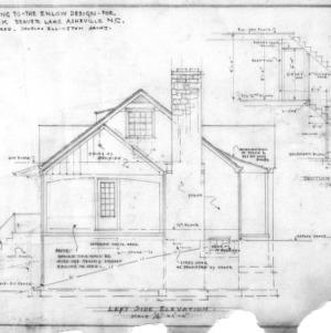 Supplement drawing to Enlow design, Left Side Elevation