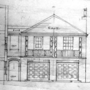Sketch, Garage Elevation