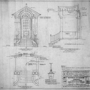 Entrance Plan, Elevation, Sections and Details