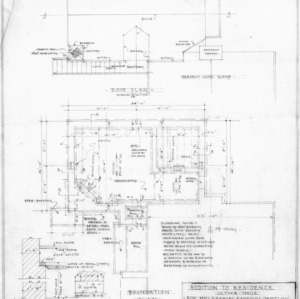 Studio Wing Foundation Plan, Roof Plan and Details
