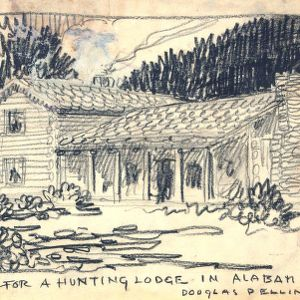 Sketch for a Hunting Lodge in Alabama