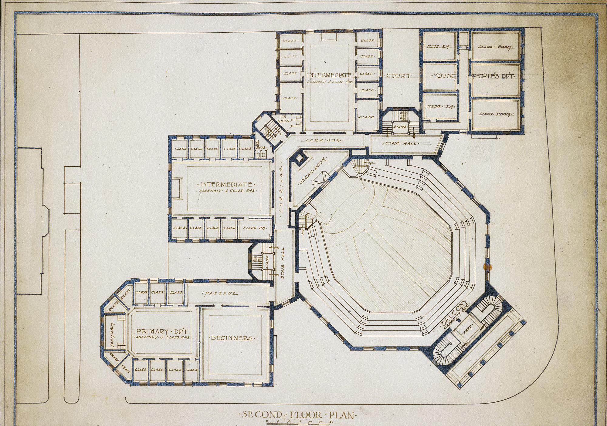 Second Floor Plan First Baptist Church Asheville N C