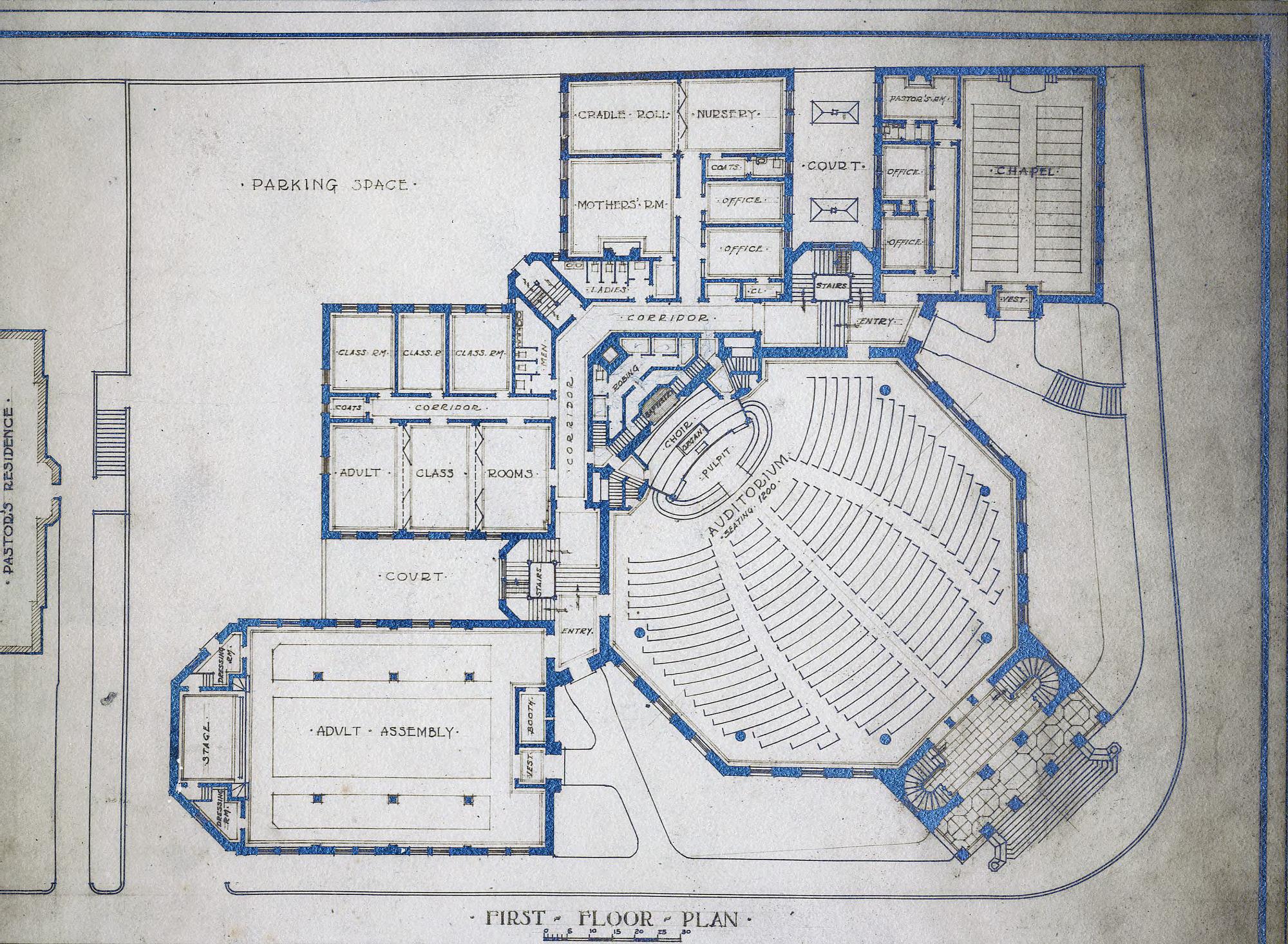 First Floor Plan First Baptist Church Asheville N C