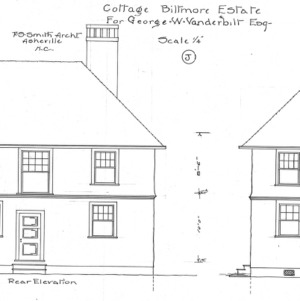 "Cottage ""J' for Geo. W. Vanderbilt Esq--Rear & Side Elevation"