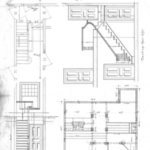 "Cottage ""J' for Geo. W. Vanderbilt Esq--Front Elevation Foundation Plan Section ""AB"""