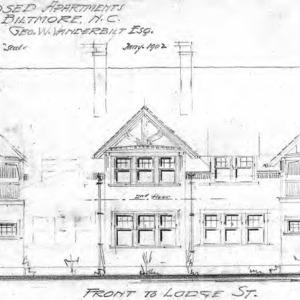 Proposed Apartments for Geo. W. Vanderbilt Esq.--Front to Lodge St.