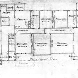 Proposed Apartments for Geo. W. Vanderbilt Esq--First Floor Plan