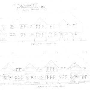 Proposed Apartments for Geo. W. Vanderbilt Esq--Front to Lodge St. Front to Biltmore Rd.