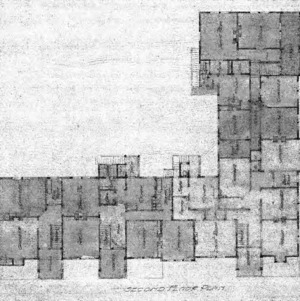 Proposed Apartments for Geo. W. Vanderbilt Esq-- Second Floor Plan