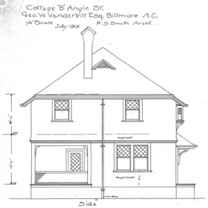 "Cottage ""B"" Angle St.--Geo. W. Vanderbilt Esq—Side"