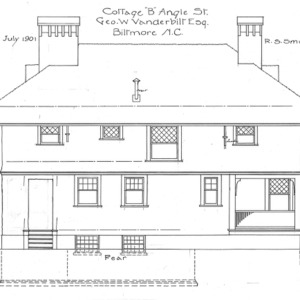 "Cottage ""B"" Angle St.--Geo. W. Vanderbilt Esq—Rear"