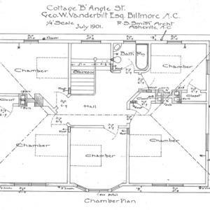 "Cottage ""B"" Angle St.--Geo. W. Vanderbilt Esq--Chamber Plan"
