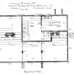 "Cottage ""B"" Angle St.--Geo. W. Vanderbilt Esq--Basement Plan"