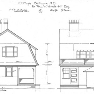 "Cottage ""O"" for Geo. W. Vanderbilt Esq--Side & Rear"