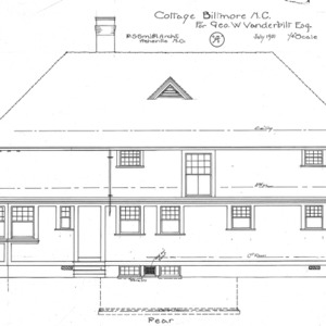 "Cottage ""A"" for Geo. W. Vanderbilt Esq—Rear"