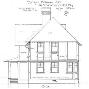 "Cottage ""A"" for Geo. W. Vanderbilt Esq—Side"