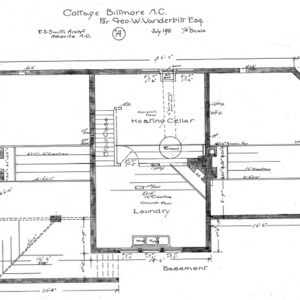 "Cottage ""A"" for Geo. W. Vanderbilt Esq—Basement"