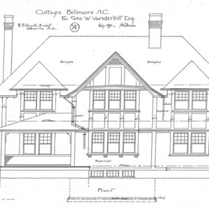 "Cottage ""A"" for Geo. W. Vanderbilt Esq—Front"