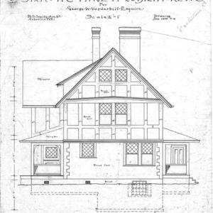 Six Room Cottage No. 20 for Geo. W. Vanderbilt Esq--Side Elevation