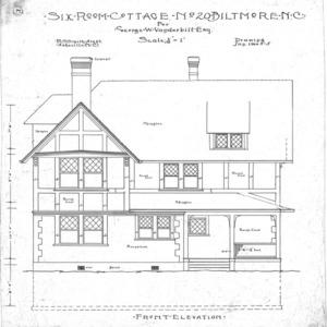 Six Room Cottage No. 20 for Geo. W. Vanderbilt Esq--Front Elevation