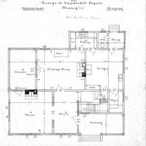 Six Room Cottage No. 20 for Geo. W. Vanderbilt Esq--First Floor Plan