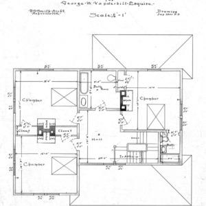 Six Room Cottage No. 20 for Geo. W. Vanderbilt Esq--Second Floor Plan