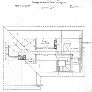 Six Room Cottage No. 20 for Geo. W. Vanderbilt Esq--Attic & Roof Plan